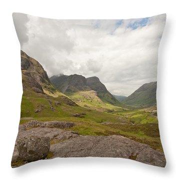 Pass Of Glencoe Throw Pillow
