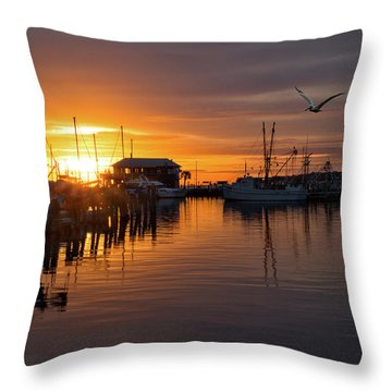 Pass Sunset Throw Pillow