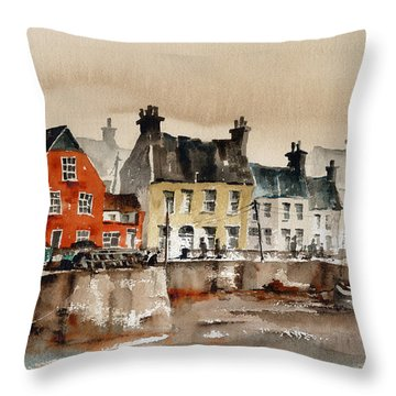 Passage East Harbour, Waterford Throw Pillow