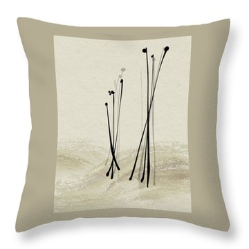 Passage Of Reeds Throw Pillow