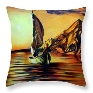 Passage- The Journey Home Throw Pillow