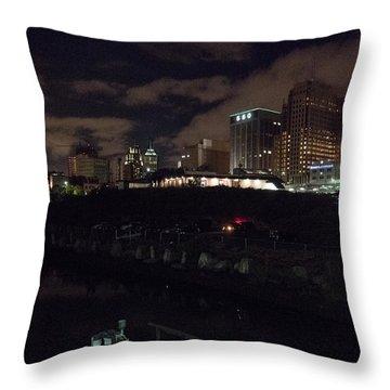 Passaic West Bank Throw Pillow