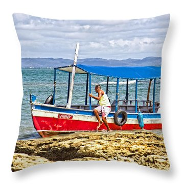 Throw Pillow featuring the photograph Passenger Boat by Kim Wilson