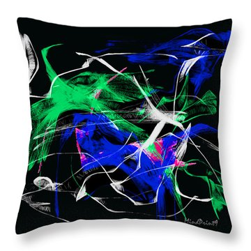 Throw Pillow featuring the digital art Passing Bird by Asok Mukhopadhyay