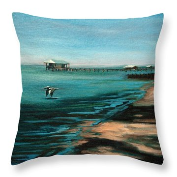 Throw Pillow featuring the painting Passing By Again by Suzanne McKee