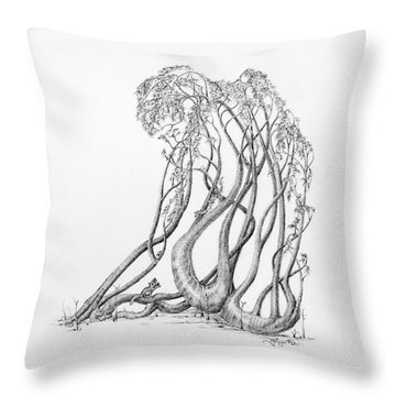 Passing Glances Throw Pillow by Mark Johnson