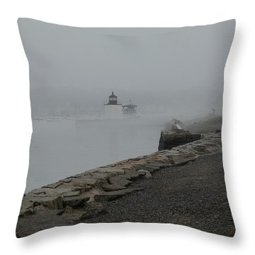 Throw Pillow featuring the photograph Passing In The Fog by Jeff Folger