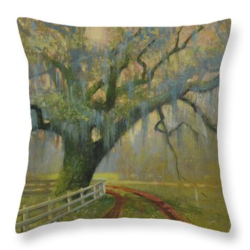 Passing Spring Shower Throw Pillow by Blue Sky