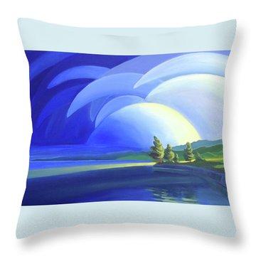 Passing Storm Throw Pillow
