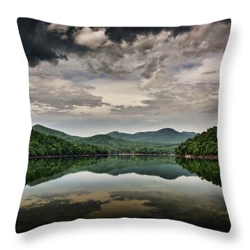 Throw Pillow featuring the photograph Passing Storm Over Lake Hiwassee by Greg Mimbs