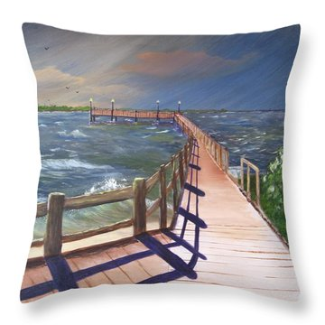Passing Storm Throw Pillow by Rich Fotia