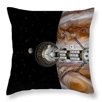 Passing The Storm Throw Pillow
