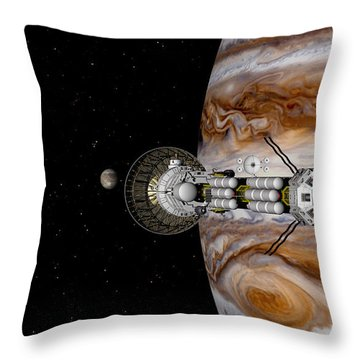 Throw Pillow featuring the digital art Passing The Storm by David Robinson