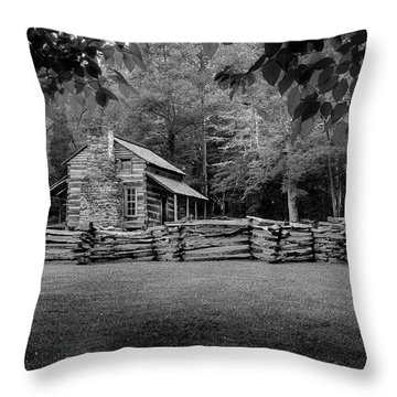 Passing Through The Cove Throw Pillow
