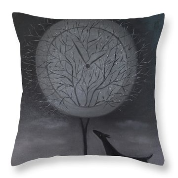 Passing Time Throw Pillow by Tone Aanderaa