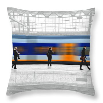 Passing Train Throw Pillow