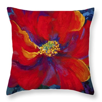 Passion - Red Poppy Throw Pillow