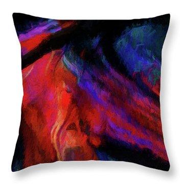 Passion 2b Throw Pillow by Karo Evans