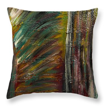 Throw Pillow featuring the painting Passion Abstract 1 by Renee Anderson