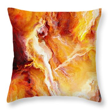 Passion - Abstract Art - Triptych 2 Of 3 Throw Pillow