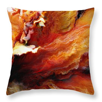 Passion - Abstract Art - Triptych 3 Of 3 Throw Pillow