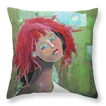 Throw Pillow featuring the painting Passion by Becky Kim