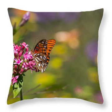 Throw Pillow featuring the photograph Passion Butterfly  by Julie Andel