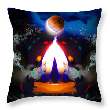 Passion Eclipsed Throw Pillow by Glenn Feron