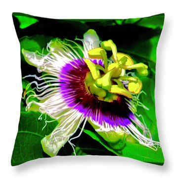 Passion Flower 3 Uplift Throw Pillow