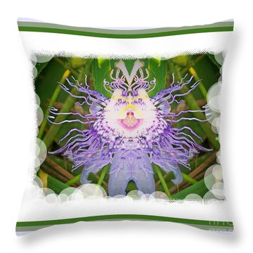 Passion Flower Fantasy 21 Throw Pillow