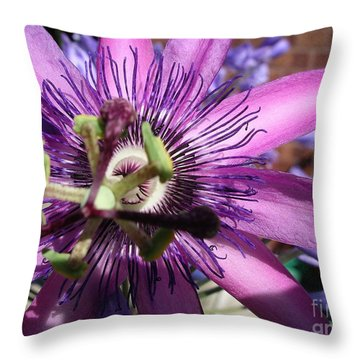 Throw Pillow featuring the photograph Passion Flower by Jolanta Anna Karolska