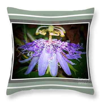 Passion Flower Lift Off Throw Pillow