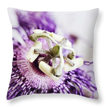 Throw Pillow featuring the photograph Passion Flower by Stephanie Frey