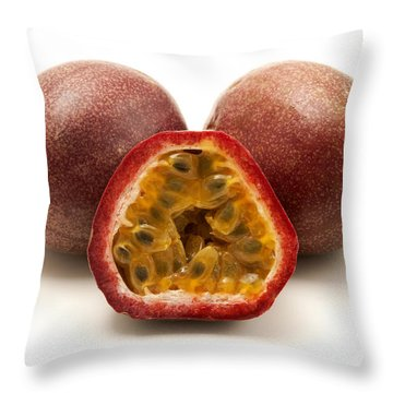 Passion Fruits Throw Pillow
