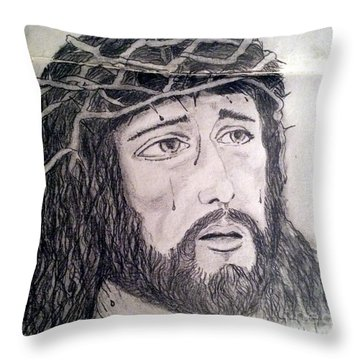 Passion Of Christ Throw Pillow