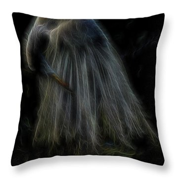Passion Of Prayer Throw Pillow by William Horden