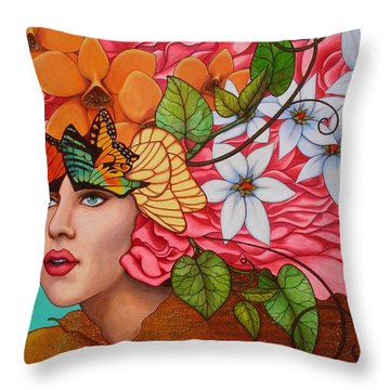 Passionate Pursuit Throw Pillow by Helena Rose