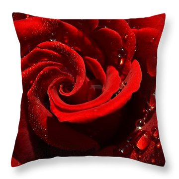 Passionate Red Throw Pillow