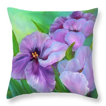 Passionate Tulips Throw Pillow