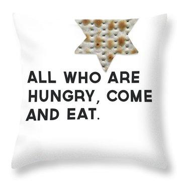 Passover Matzo- Art By Linda Woods Throw Pillow