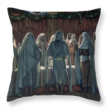Passover Throw Pillow by Tissot