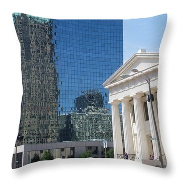 Past And Present Reflections Throw Pillow