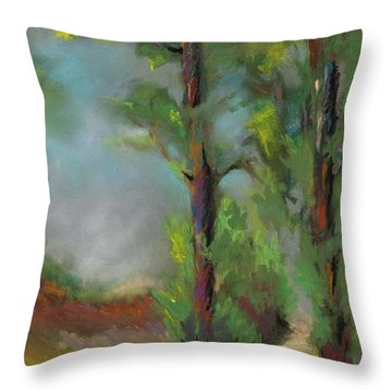 Past Friends Throw Pillow by Frances Marino