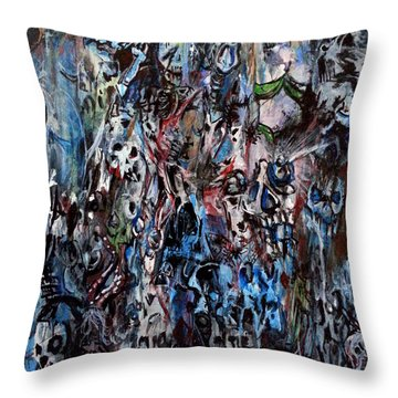 Past Life Trauma Throw Pillow