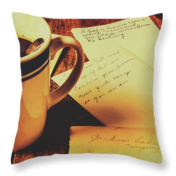 Past Postcard Preoccupations  Throw Pillow