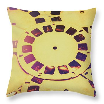 Past Projection Throw Pillow