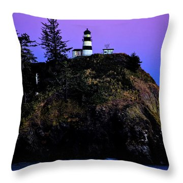 Throw Pillow featuring the photograph Past Sunset At Cape Disappointment by Mary Jo Allen