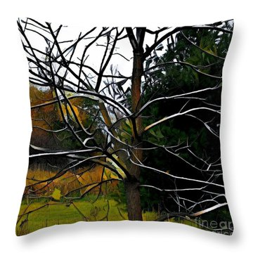 Past The Branches Throw Pillow