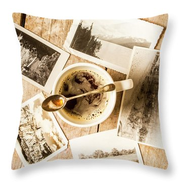 Past Time Tea Throw Pillow