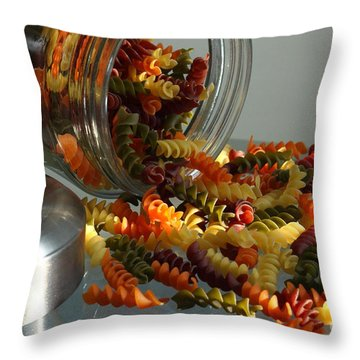 Pasta Spillage Throw Pillow by Robert Frederick